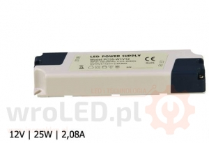 ZASILACZ LED PC IP40 12V 2,08A 25W