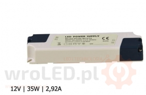 ZASILACZ LED PC IP40 12V 2,92A 35W