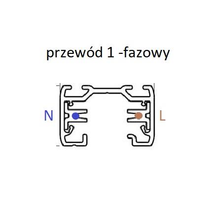 przekrój szyny 1 -fazowej